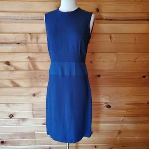 1950s Unlabeled Navy, Lined, Linen Wiggle Dress
